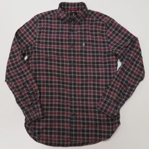 Victorinox Tailored Fit Mens Small Shirt Red Black